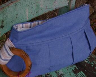 Eva's Clutch - light blue denim