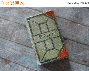 ON SALE Miniature Antique Ledger
