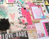I Love Pretty Things- Pink Collection #3: Scrapbook Kit, Mixed Media Kit, Journal Kit, Planner Goodies