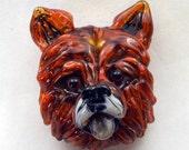 Handmade Lampwork Glass Bead, Chow-Chow, Glass Dog Bead, Focal Bead from Izzybeads SRA