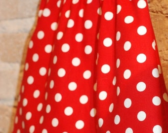SALE Red White Polkadots Modern A-line Skirt - modern toddler girls clothing - fall fashion - made to order - sizes 2T 3T 4 5 6 7 8