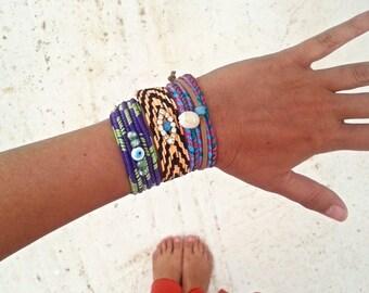 Friendship Bracelet Grab Bag. Summer Boho Chic Bracelets. Gifts Under 15. Bohemian Style Friendship Bracelet.Hippie Summer Colorful Bracelet