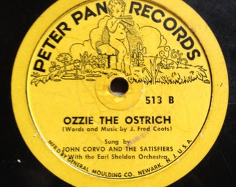 Ozzie the Ostrich and Bimbo Peter Pan Record