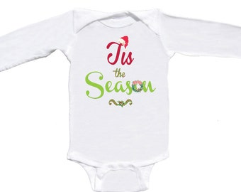 Cute Christmas Romper Long Sleeve Baby Bodysuit Red and Lime Green by Mumsy Goose Newborn Rompers to Kids Tees