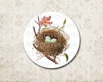 Stickers Bird Nest Flowers Envelope Seal Party Favor Wedding Birthday Treat Bag Sticker SP073