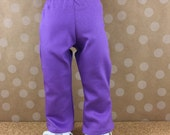 """Fits American Girl Other 18 Inch Dolls Purple Boot Cut Pants 18"""" Doll Sized Girls Toys"""