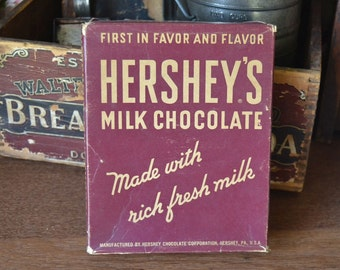 Vintage 1964 Hershey's Milk Chocolate Candy Bar Advertising Box