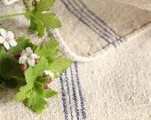 B182 Grain Sack antique SEA BLUE pillow french lin benchcushion 22.44wide wedding decoration