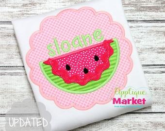 Machine Embroidery Design Applique Watermelon Scallop INSTANT DOWNLOAD