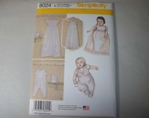 New Simplicity Christening Gown  Pattern, 8024 (Free US Shipping)
