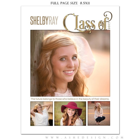 Senior yearbook ads photoshop templates simply worded grad for Yearbook ad templates free