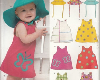 New Look 6392 Pattern for babies's summer dress and hat, uncut