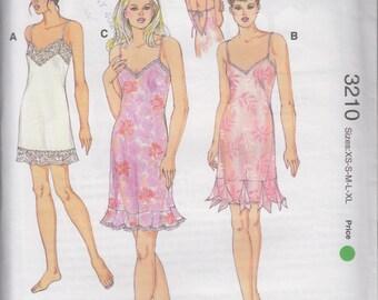 Kwik Sew 3210 Misses Lingerie Nightgown Womens Sewing Pattern Size XS-XL UNCUT