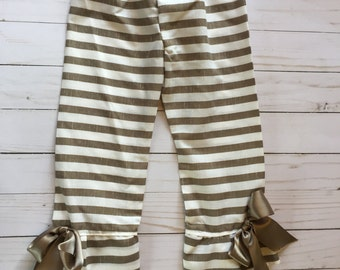 Girls Summer Stripe Pants. 4T