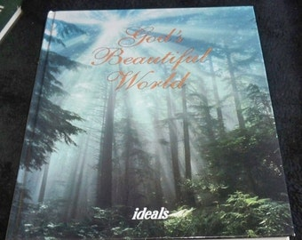 1 DAY SALE God's Beautiful World by Ideals 1993 Book Vintage