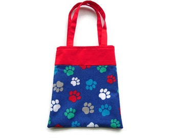 Fabric Gift/Goodie Bags - Paw Prints