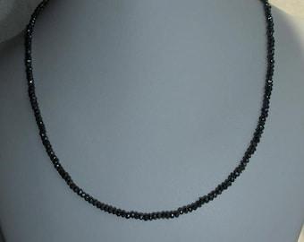 dyed black garnet necklace * beaded necklace * gemstone necklace * gemstone jewelry * sparkley necklace * choker