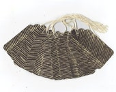 Brown Stripes Gift Tags (10) PreStrung Scallop Top Hang Tags / GTL50 / Favor Bag Tags / Package Decor / Ready To Ship