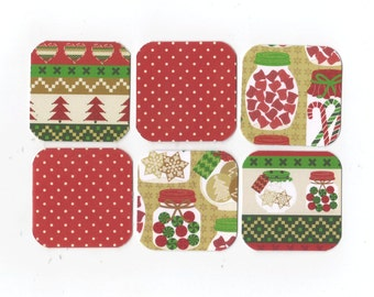 SALE Christmas Mini Note Cards (set of 6) CMN14 / Ready To Ship