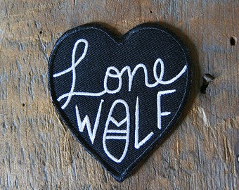 Lone Wolf Iron-on Patch
