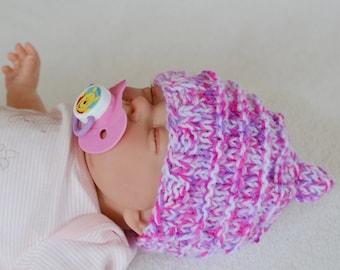 Baby Girls Elf Hat,Newborn Chunky Knit Hat, Photo Prop Hat