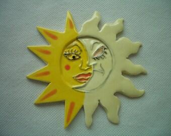KOG - ECLIPSE Set - Sun, Moon - Ceramic Mosaic Tiles