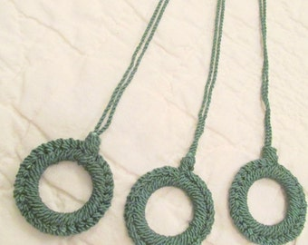 Vintage Shade Pull Forest Green Price Per Pull New Old Stock
