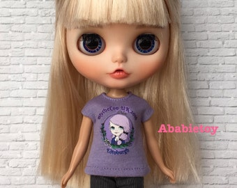Purple BlytheCon UK 2016 Tee for Blythe Size Doll