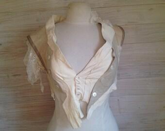 Vintage leather glove vest