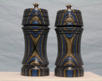 6 Inch COLORWOOD SALT & PEPPERMILL Set Numbers 1396 and 1397