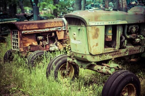 Rustic tractor wall decor : John deere rustic wall art grunge tractor decay