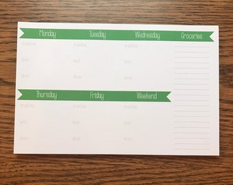 Meal Planner Notepad, Magnetic Grocery To Do List