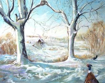 Lovers - Original oil painting by Damis