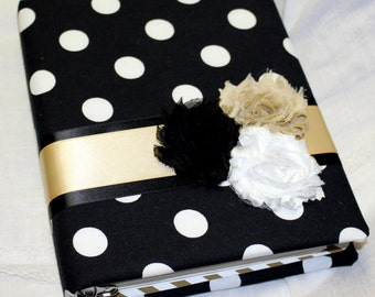 Bridal Shower Guest Book, Black and Gold Guest Book, Advice Book, Guest Book, Blush and Gold Guest Book, Custom Guest Book