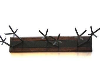 Vintage Candleholder, Mid Century, Metal and Wood