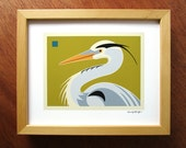 Great Blue Heron, 8x10 print