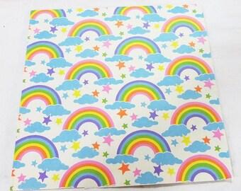 Vintage sunshine rainbow sheet gift wrap paper pastel color