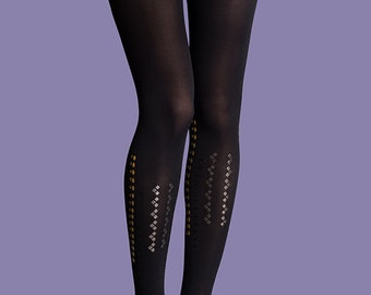 Gifts for her, Kendall black opaque tights, available in S-M, L-XL, gift ideas, gift for her