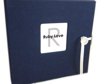 BABY BOOK | Solid Navy Album - Ruby Love Modern Baby Memory Book