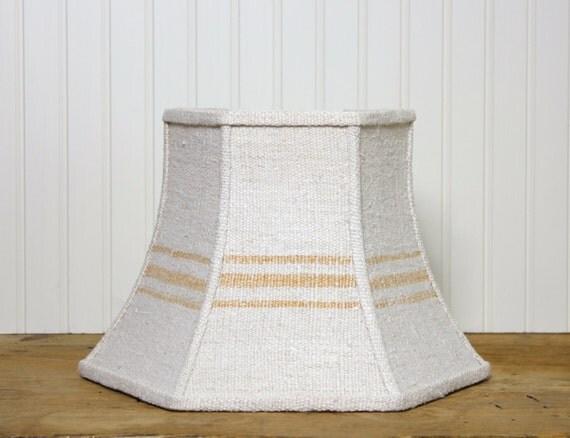 uno lamp shade grain sack lamp shade lampshade rustic. Black Bedroom Furniture Sets. Home Design Ideas