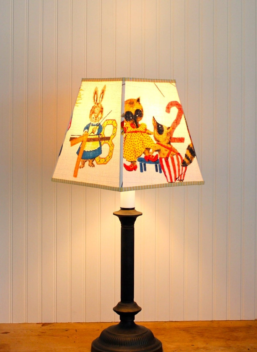 Childrens Wall Lamp Shades : Children s Lamp Shade Lampshade Barkcloth Lampshade