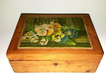 1880s Wooden Sewing Box / Swedish Box / Wooden Box
