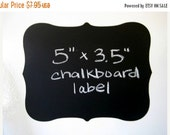 SALE- Large Fancy Vinyl Chalkboard Labels Self Adhesive  - SET OF 6 -  Make your own mini chalkboards