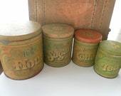 Quartet of vintage Ballonoff Cannisters