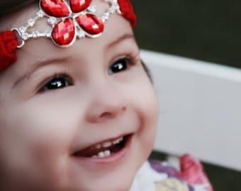 Halo Valentine Headband, Baby Headband,Toddler Headband,Adult Headband,Gatsby Lace Headband,Wedding Hair Accessoreis,Boho,Flower Girl,Bridal