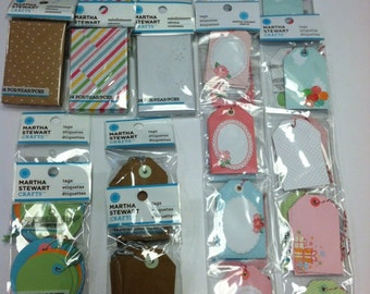 224 assorted Martha Stewart gift tags