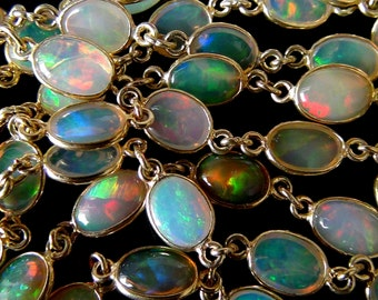 Ethiopian Opal 14k Gold Filled Connector- 1 Connector