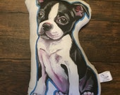 Boston Terrier Puppy Pillow