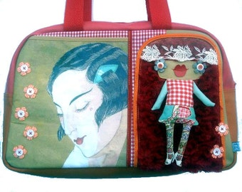 "Bag molly creative bag unique bag n43 ""Miss Shangai"""