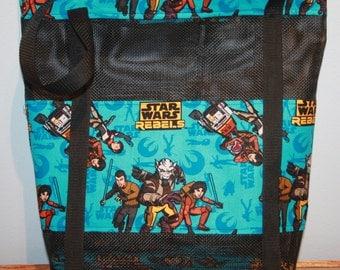 Star Wars Force Awakens Vinyl Mesh Tote